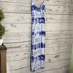 Tie-dyed Maxi Dress, Spaghetti Straps, M